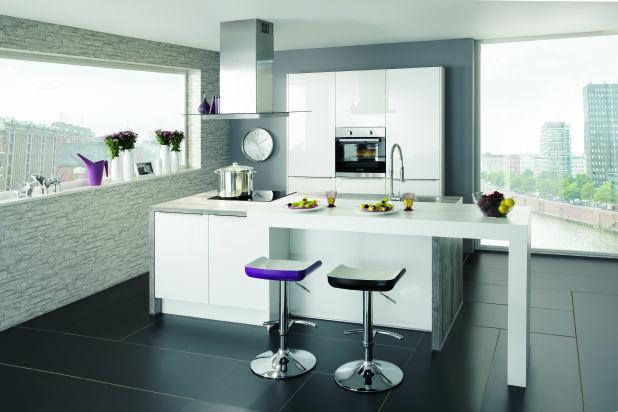 Modellen vivari idejo keukens - Model keuken wit gelakt ...